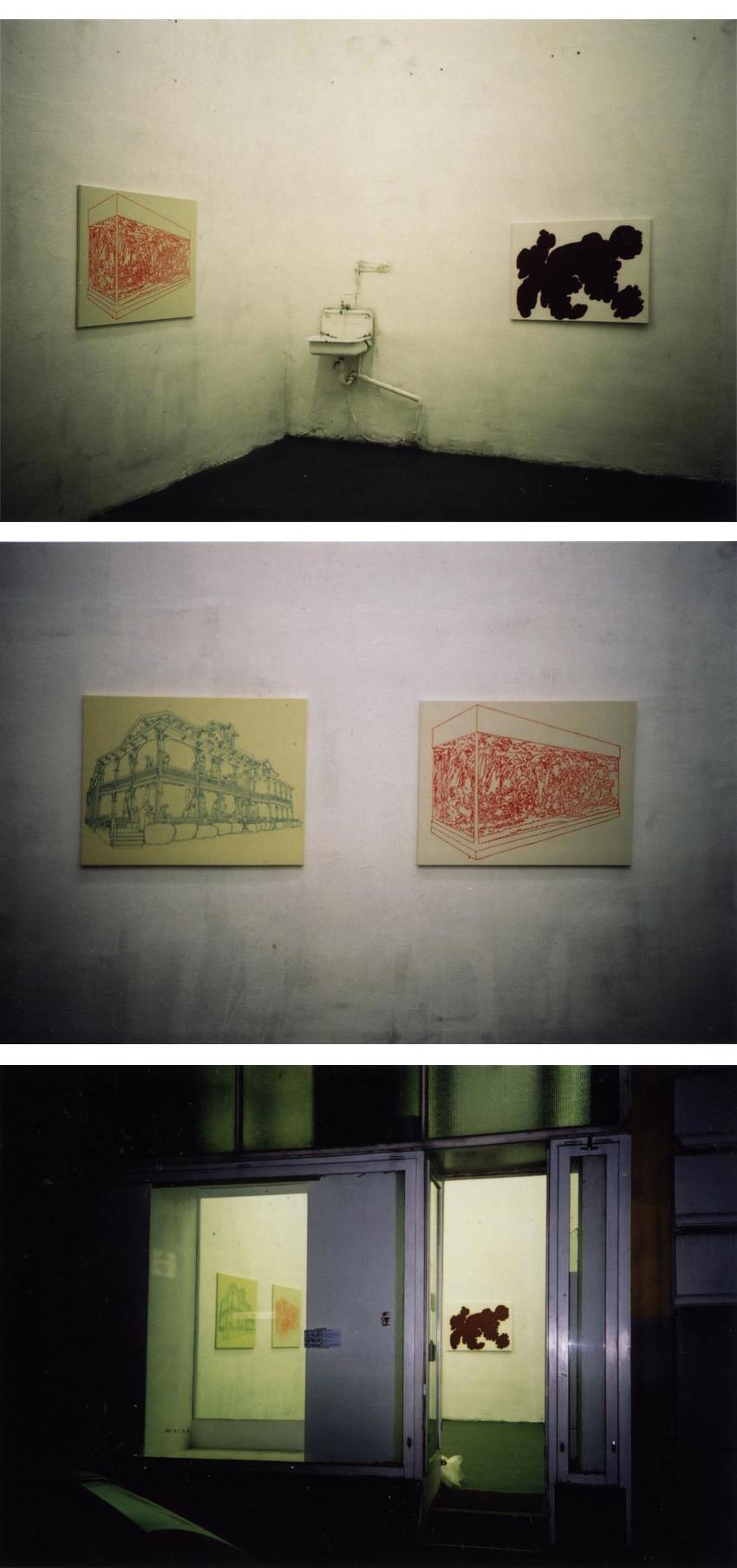 Tobias Gossow - Malerei / Ohne Titel, 2002 / 30 x 40 cm / Acryl auf Holz
