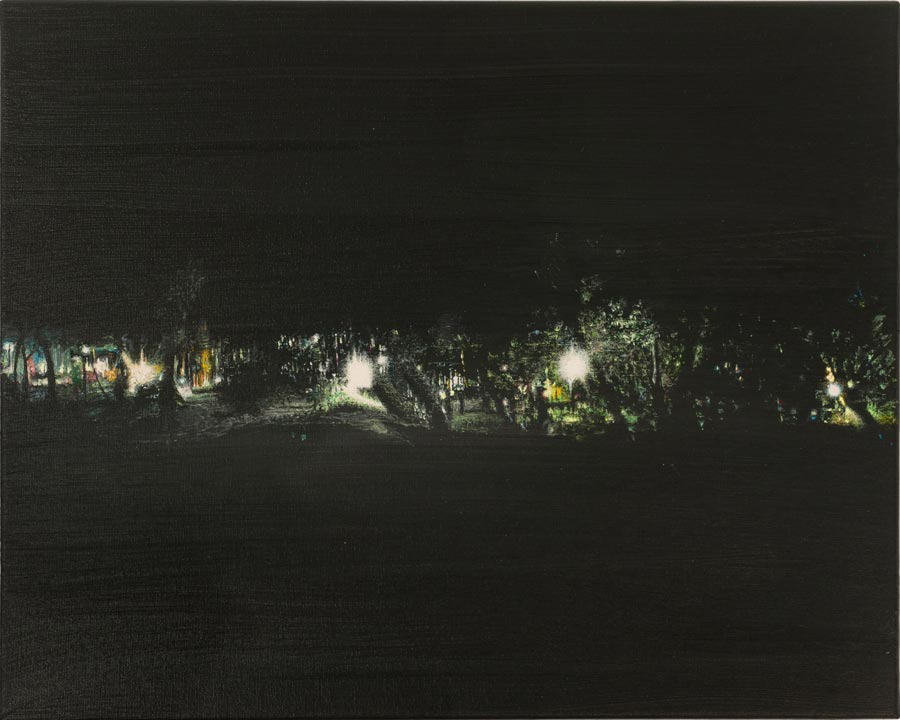 Oblak, 2013 / 40 x 50 cm / Acryl auf Leinwand