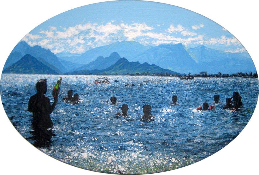 Mavi, 2014 / 20 x 30 cm / Acryl auf Leinwand