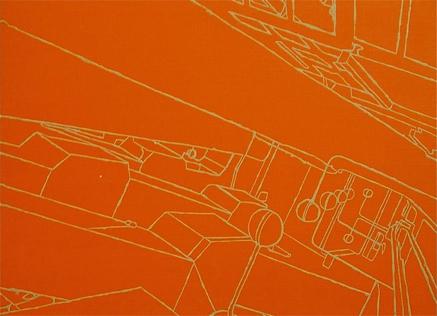 AKH 1, 2001 / 30 x 40 cm / Acryl auf Holz