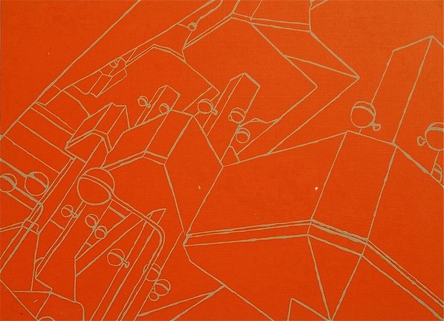 AKH 2, 2001 / 30 x 40 cm / Acryl auf Holz