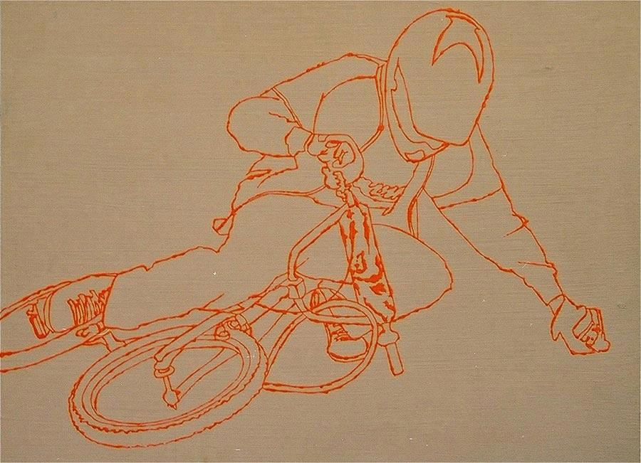 AKH 4, 2001 / 30 x 40 cm / Acryl auf Holz