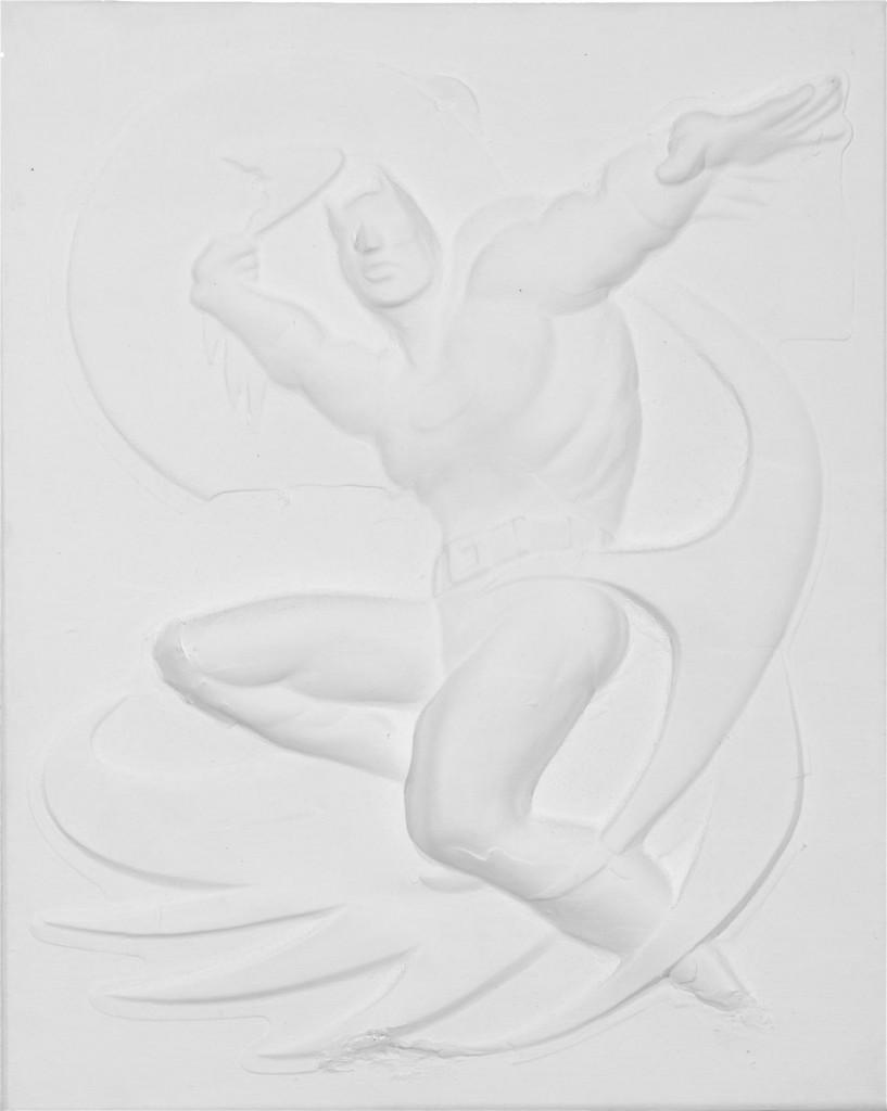 Adam, 2006 / 50 x 40 cm / Acryl und Plasik auf Leinwand