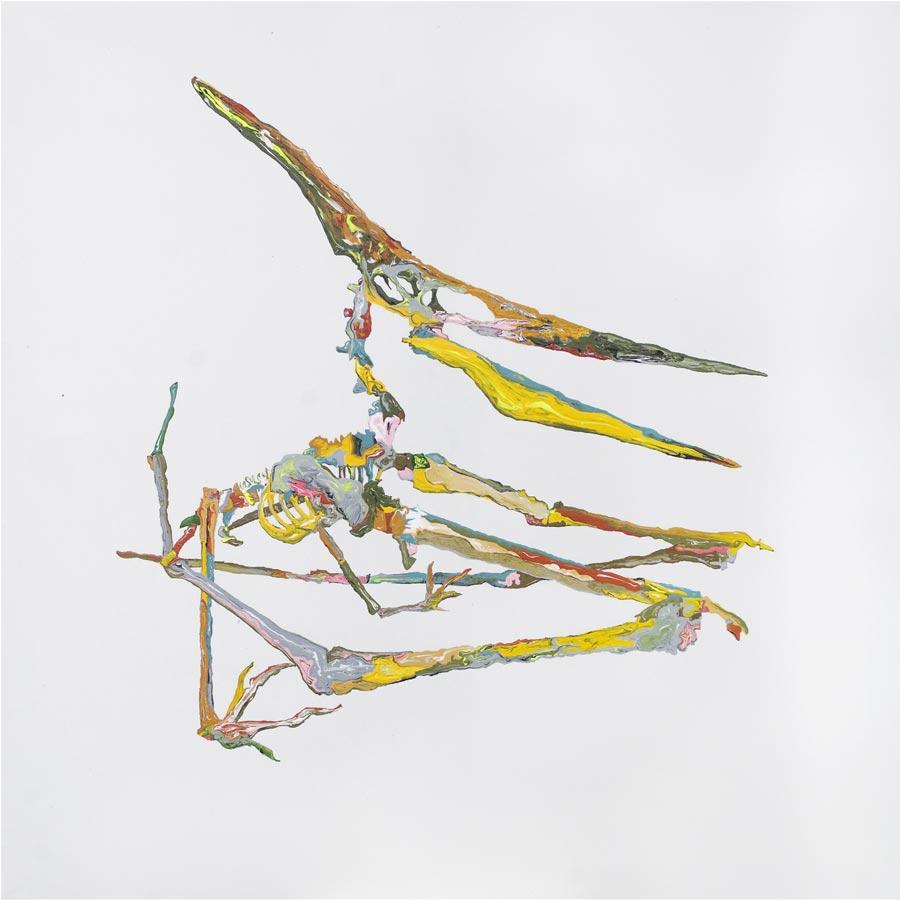 Archeaopteryx, 2008 / 100 x 100 cm / Acryl auf Molino