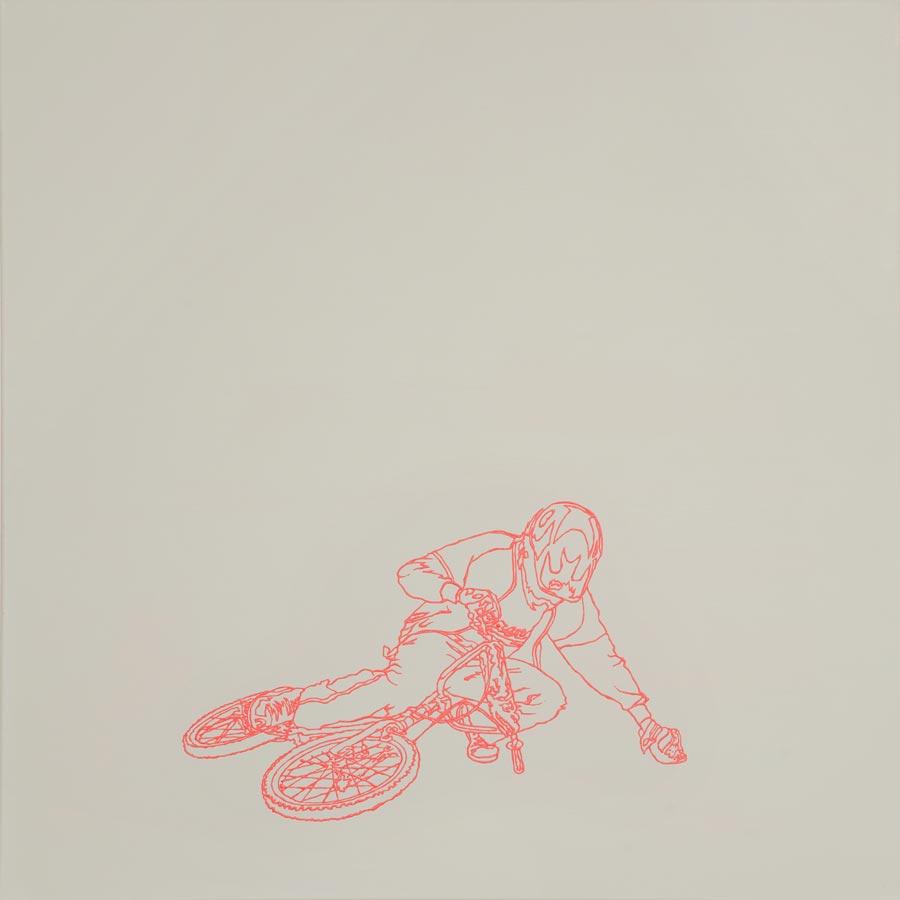 BMX, 2010 / 100 x 100 cm / Acryl auf Molino