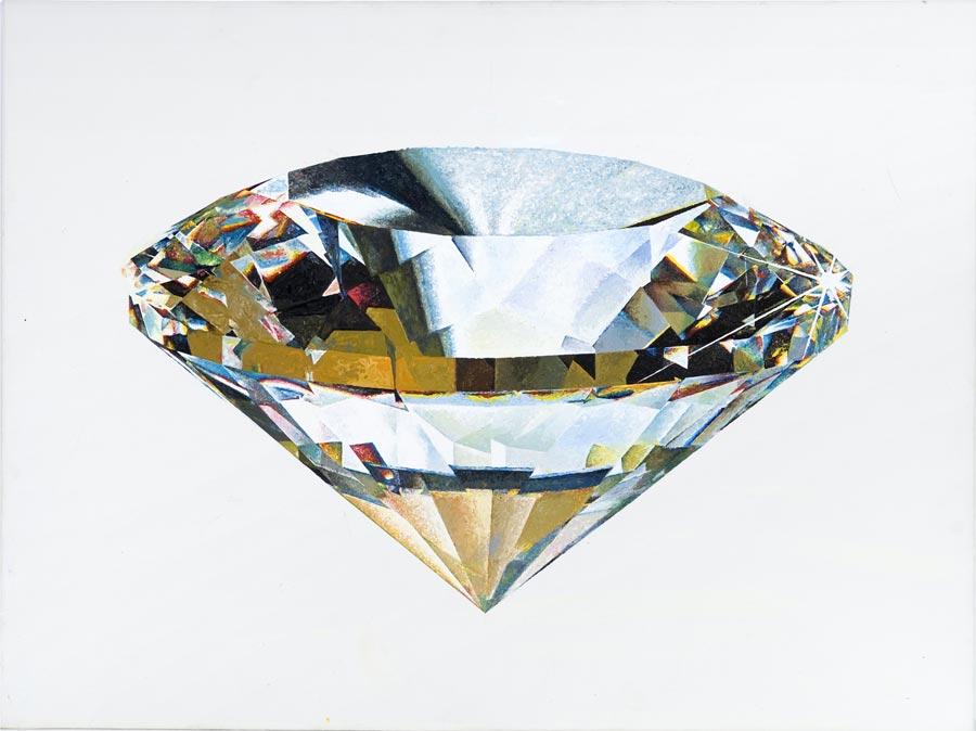 Diamant, 2007 / 50 x 70 cm / Acryl auf Molino