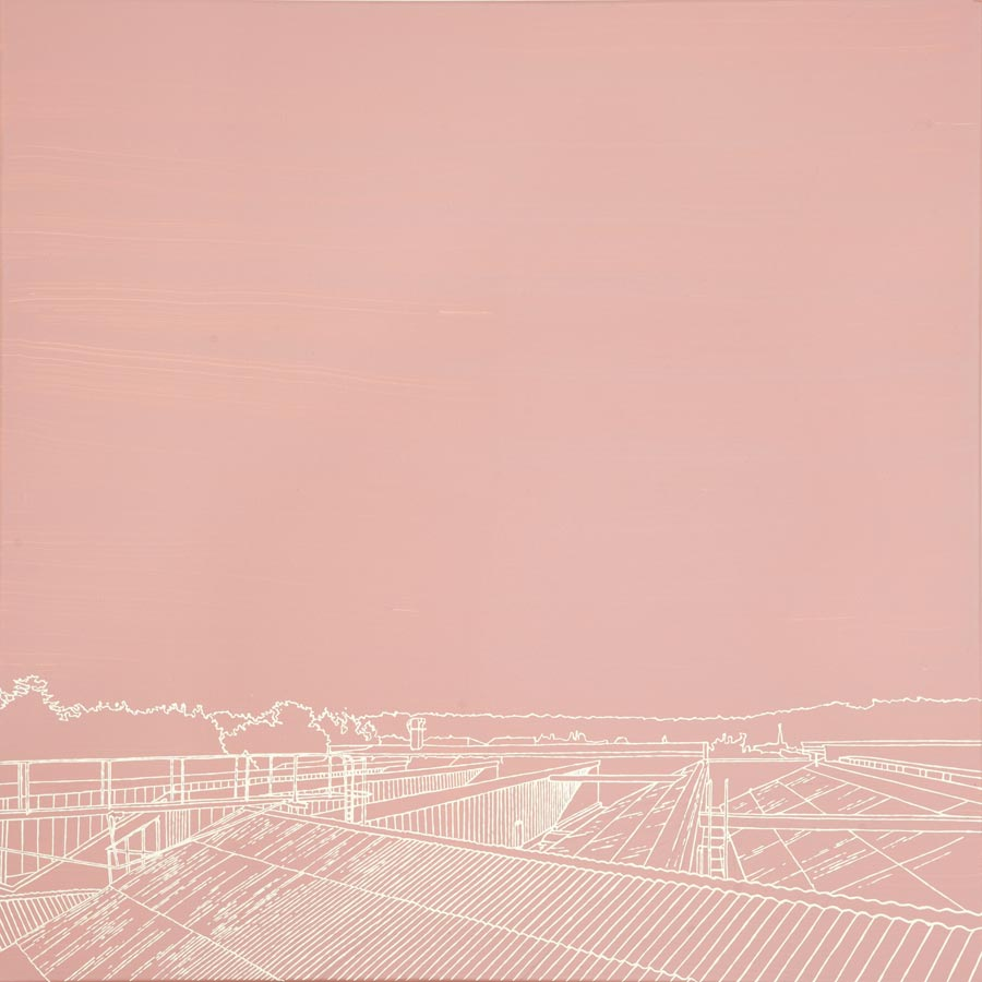 Eternit, 2010 / 100 x 100 cm / Acryl auf Molino