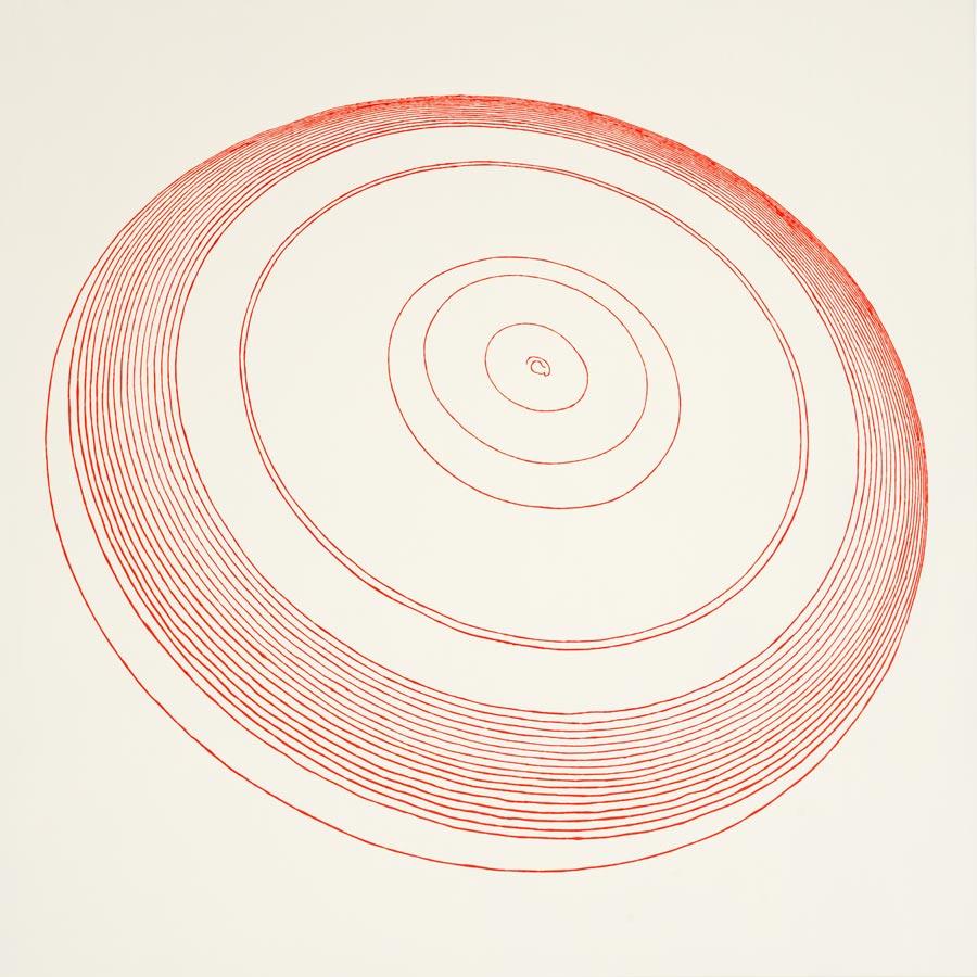 Frisbee, 2010 / 100 x 100 cm / Acryl auf Molino