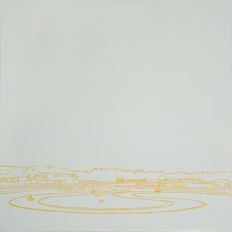 Go-Cart, 2010 / 100 x 100 cm / Acryl auf Molino