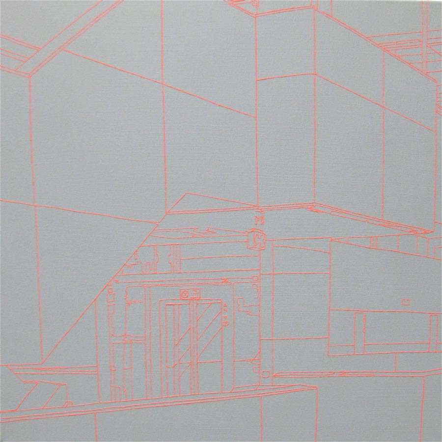Halle A, 2010 / 60 x 60 cm / Acryl auf Molino