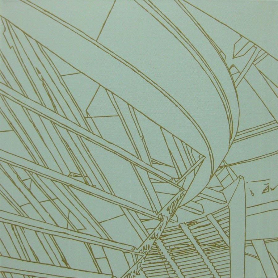 Norman, 2010 / 40 x 40 cm / Acryl auf Molino