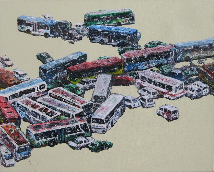 Ohne Titel, 2009 / 40 x 50 cm / Acryl auf Molino