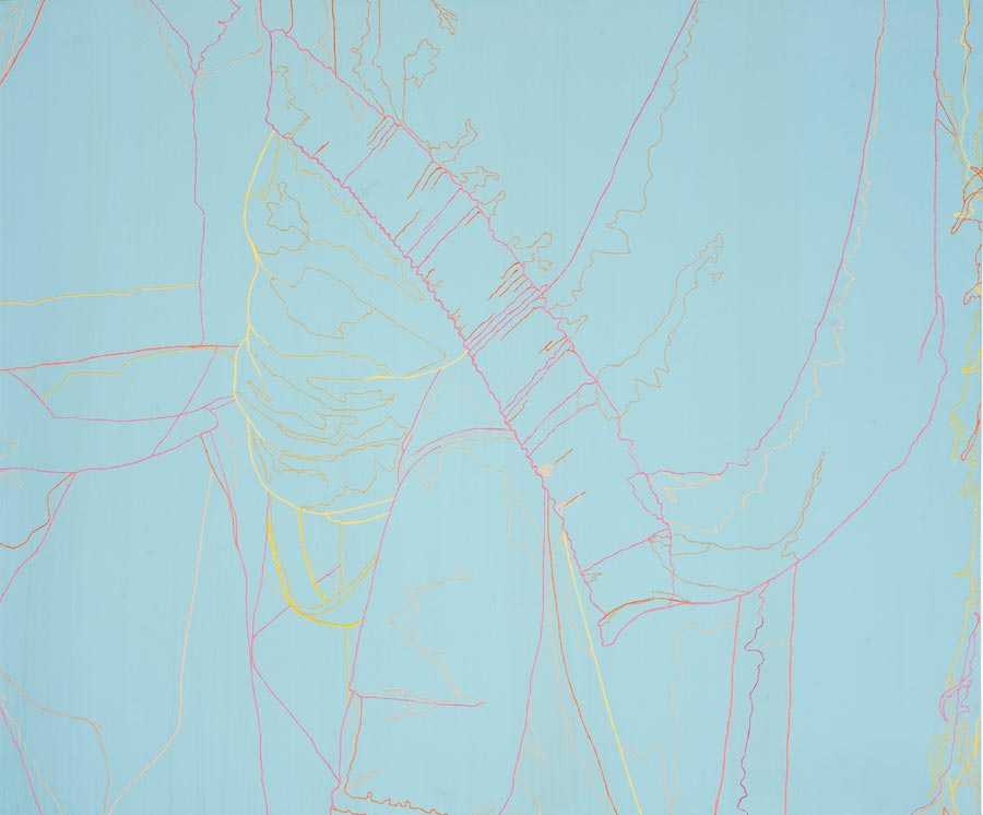 Ohne Titel, 2012 / 120 x 150 cm / Acryl auf Molino