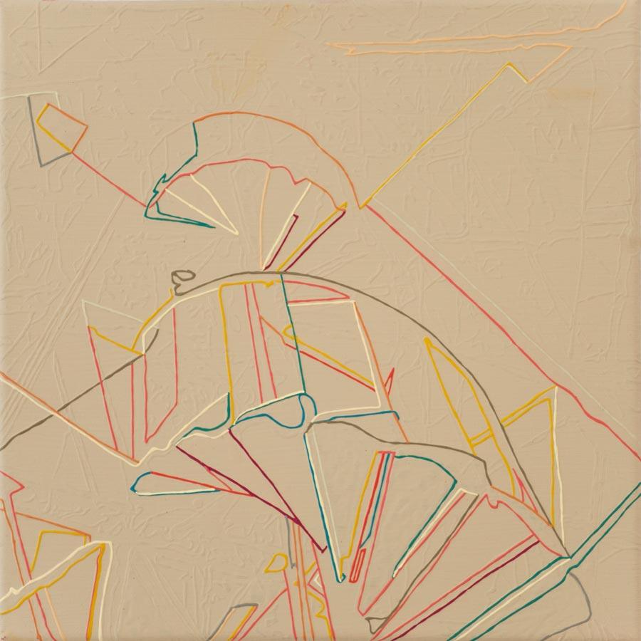 Ohne Titel, 2013 / 30 x 30 cm / Acryl auf Molino