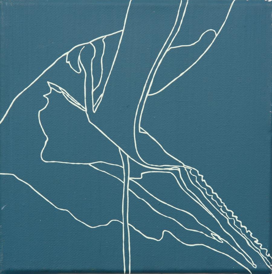 Raf Simons, 2010 / 20 x 20 cm / Acryl auf Molino