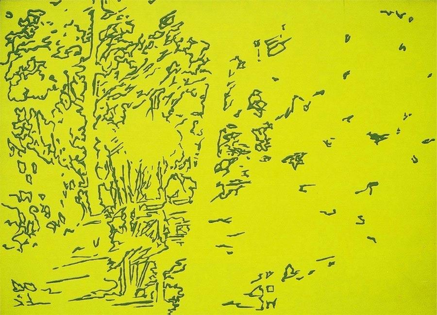 Safari, 2001 / 60 x 80 cm / Acryl auf Holz