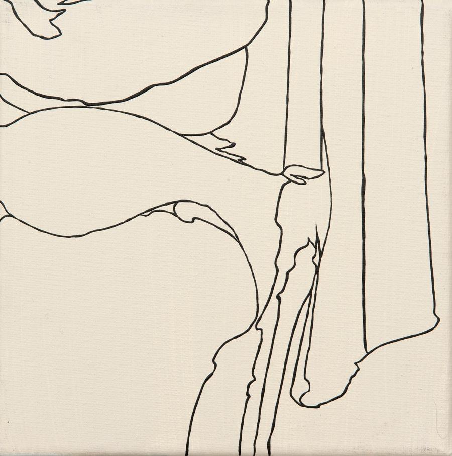 Sarah Hyee, 2010 / 20 x 20 cm / Acryl auf Molino