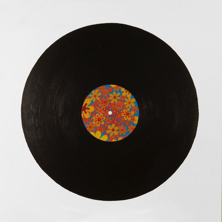 Schallplatte, 2006 / 104 x 104 cm / Acryl auf Molino
