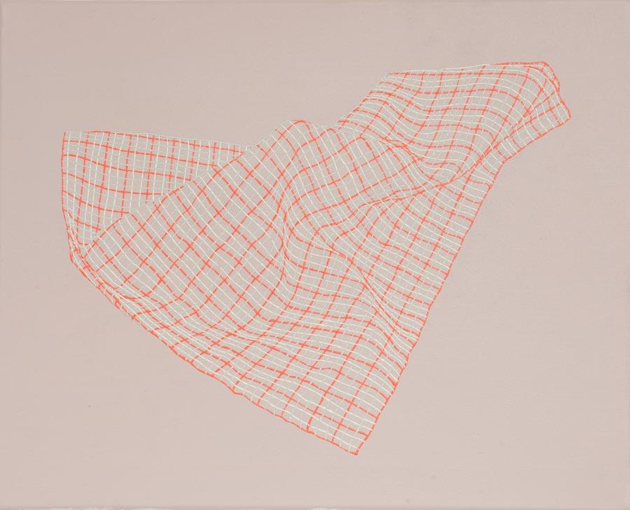 Solitaire, 2011 / 30 x 40 cm / Acryl auf Molino
