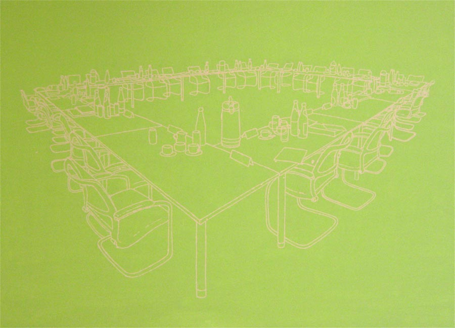 Spuk 2, 2009 / 150 x 200 cm / Acryl auf Leinwand
