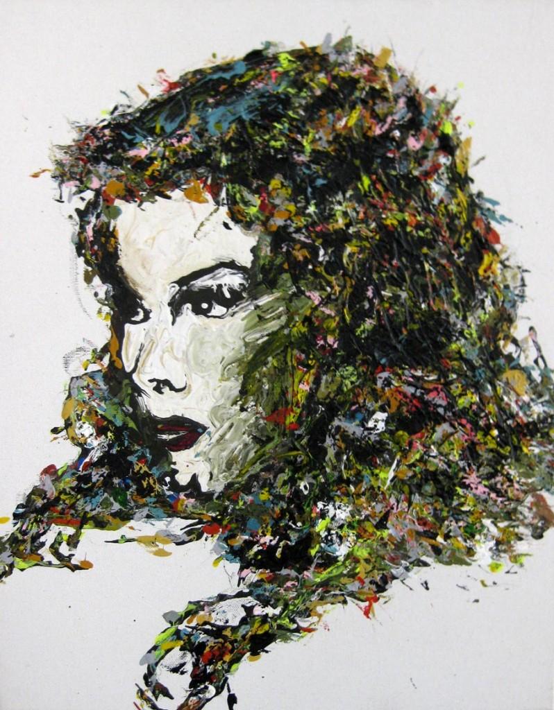 Vivienne Leigh, 2008 / 50 x 40 cm / Acryl auf Molino