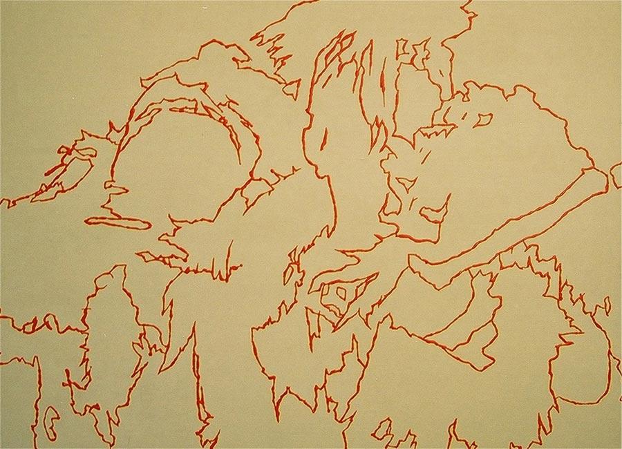 Das Pärchen, 2000 / 60 x 80 cm / Acryl auf Holz