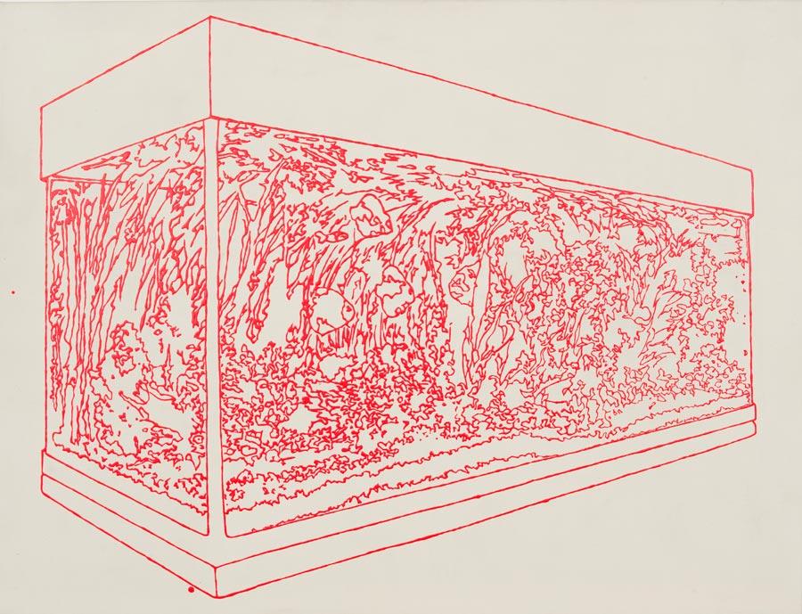 In Love, 2003 / 82 x 109 cm / Acryl auf Leinwand