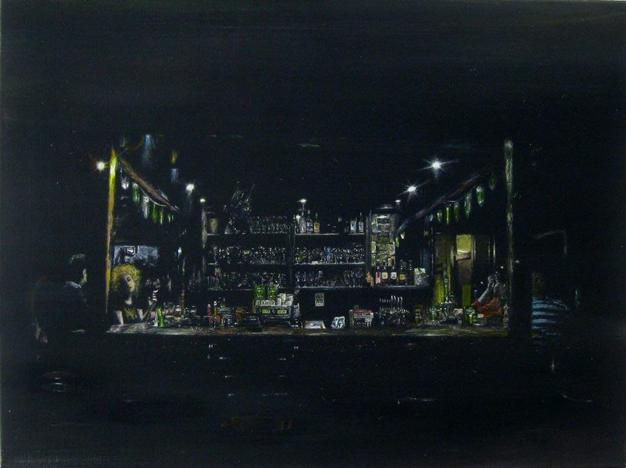 Cafe Leger, 2014 / 57 x 76 cm / Acryl auf Leinwand